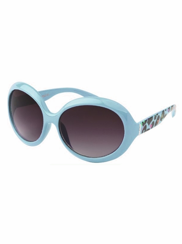 Girls Blue Animal Print Sunglasses