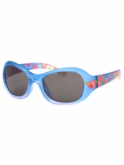 Girls Blue Flower Print Sunglasses