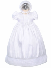 Girls Christening 2-Piece Poly Dupioni Set