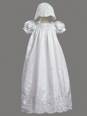 Girls Christening 2 Piece Shantung Gown
