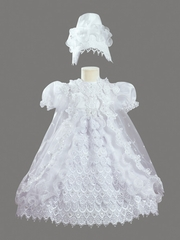 Girls Christening 3 Piece Ruffled Dress