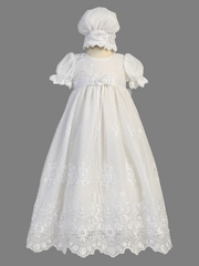 Girls Christening Gown -  2 Piece Tulle