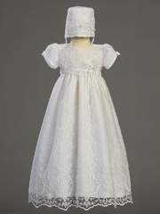 Girls Christening Gown w/Beadwork