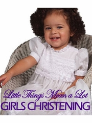 Girls Christening - Little Things Mean a Lot