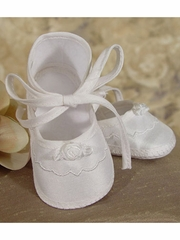 Girls Christening Silk Dupioni Shoe