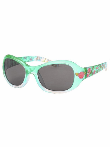Girls Green Flower Print Sunglasses