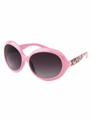 Girls Pink Animal Print Sunglasses