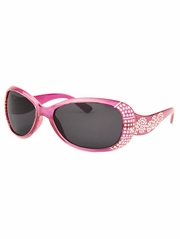 Girls Pink Sunglasses w/ Gems