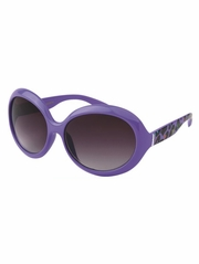 Girls Purple Animal Print Sunglasses
