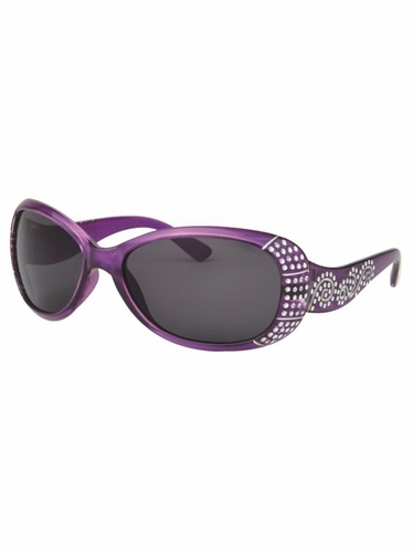 Girls Purple Sunglasses w/ Gems