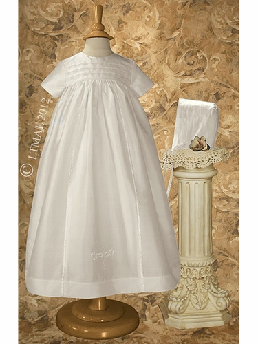 Girls Traditional Christening Family Silk Gown