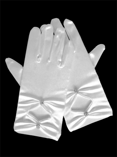 Gloves w/ Rhinestone Accents