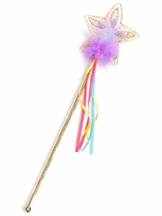 Gold Glitter Rainbow Wand