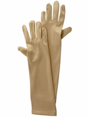 Gold Long Satin Gloves