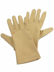 Gold Short Satin Gloves