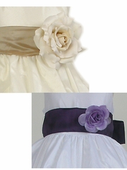 Good Girl Taffeta Sash w/ Flower