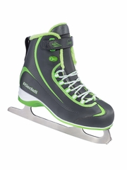 Gray/ Green Riedell Ice Skates 615 Boys Shoes w/ Soar Stainless Blade