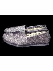 Gray Glitter Shoes