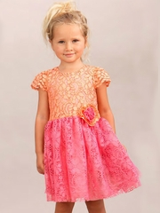 Halabaloo Sorbet Melon Lace Dress