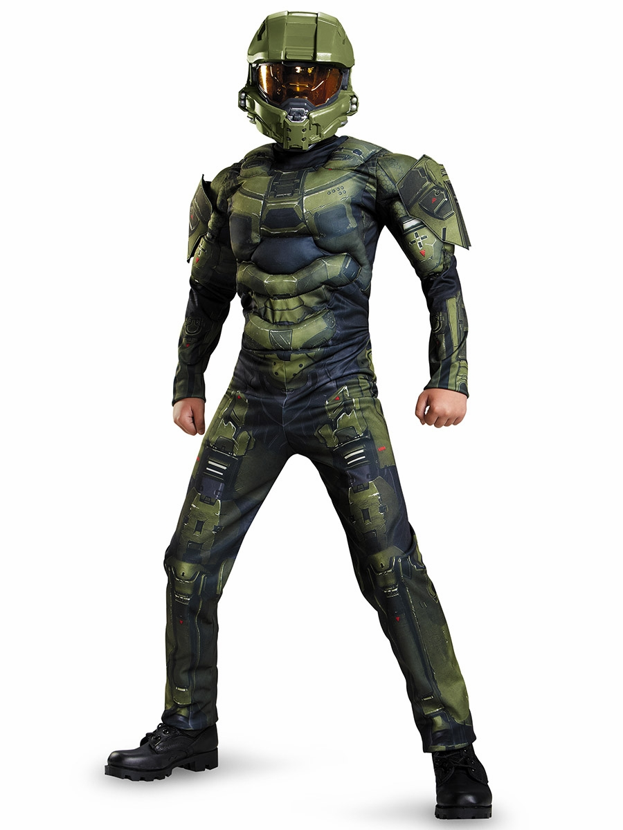 halo master chief classic muscle costume. Black Bedroom Furniture Sets. Home Design Ideas