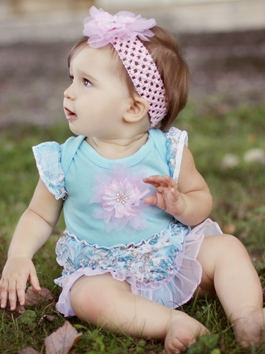 Haute Baby Aqua Onsie Dress