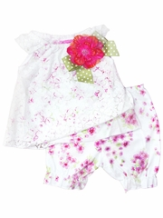 Haute Baby Chloe's Bouquet Peasant Set