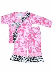Haute Baby Sweet & Sassy Hot Pink & Zebra Crisscross Set