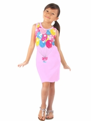 FLASH SALE - Haven Girl Light Pink Birthday Balloon Mesh & Sequins Dress