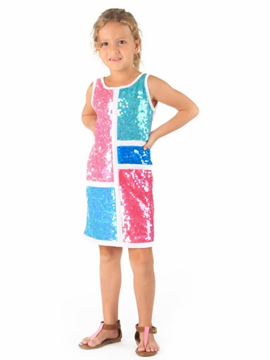 e556932885 ... Girl Twiggy Dress w/ Sequins. Click to Enlarge