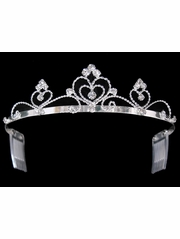 Heart Shaped Rhinestone Tiara