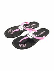 Hello Kitty Black Jelly Icon Sandals