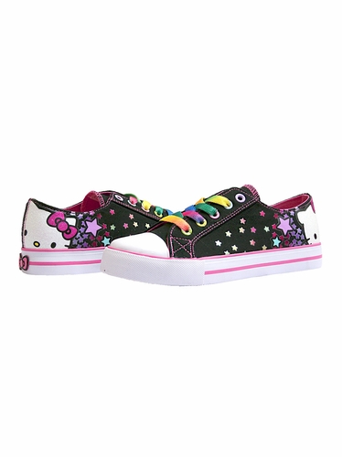 Hello Kitty Black Multi Star Canvas Shoes