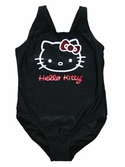 Hello Kitty Black V-Strap Back w/ Red Rhinestones