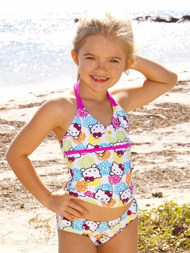 Hello Kitty Flower Girl Tankini Set