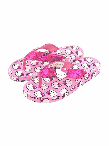 Hello Kitty Pink Glitter Wedges