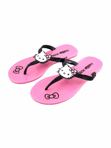 Hello Kitty Pink Jelly Icon Sandals