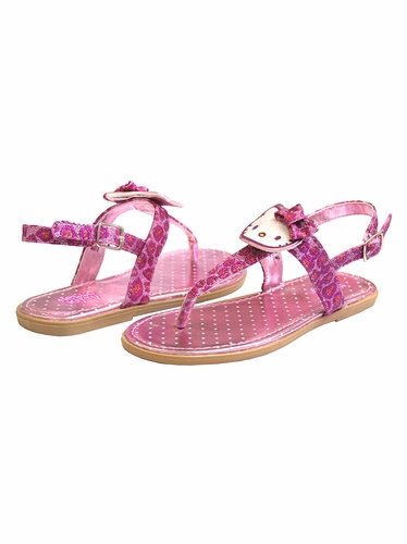 Hello Kitty Pink Leopard Sandals