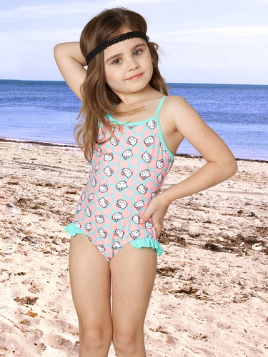 Hello Kitty Sweet Dreams Ruffle 1PC Swimsuit