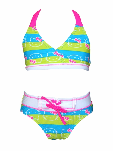 Hello Kitty Yellow & Blue Striped 2PC Bikini