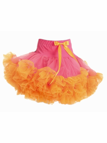 Hot Pink & Orange Pettiskirt w/ Bow