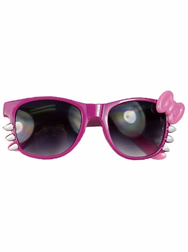 Hot Pink/Pink Junior Smoke Gradient Polycarbonate Lens Sunglasses w/ Bow