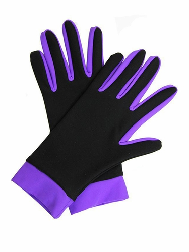 IceDress Black / Purple Thermal Figure Skating Gloves