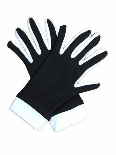 IceDress Black / White Thermal Figure Skating Gloves
