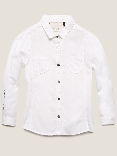 IKKS Button-Up Blouse w/ Bow