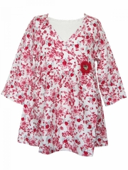 IKKS Red Flower Robe Dress