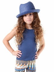 FLASH SALE - Imoga Beth Navy Tank w/ Bow