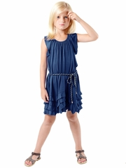 Imoga Gloria Navy Dress w/ Belt