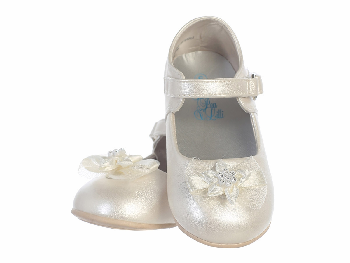 aadf64aba Infant Girls Ivory Shoes w  Bow