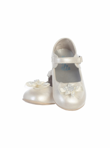 Infant Girls Ivory Shoes w/ Bow