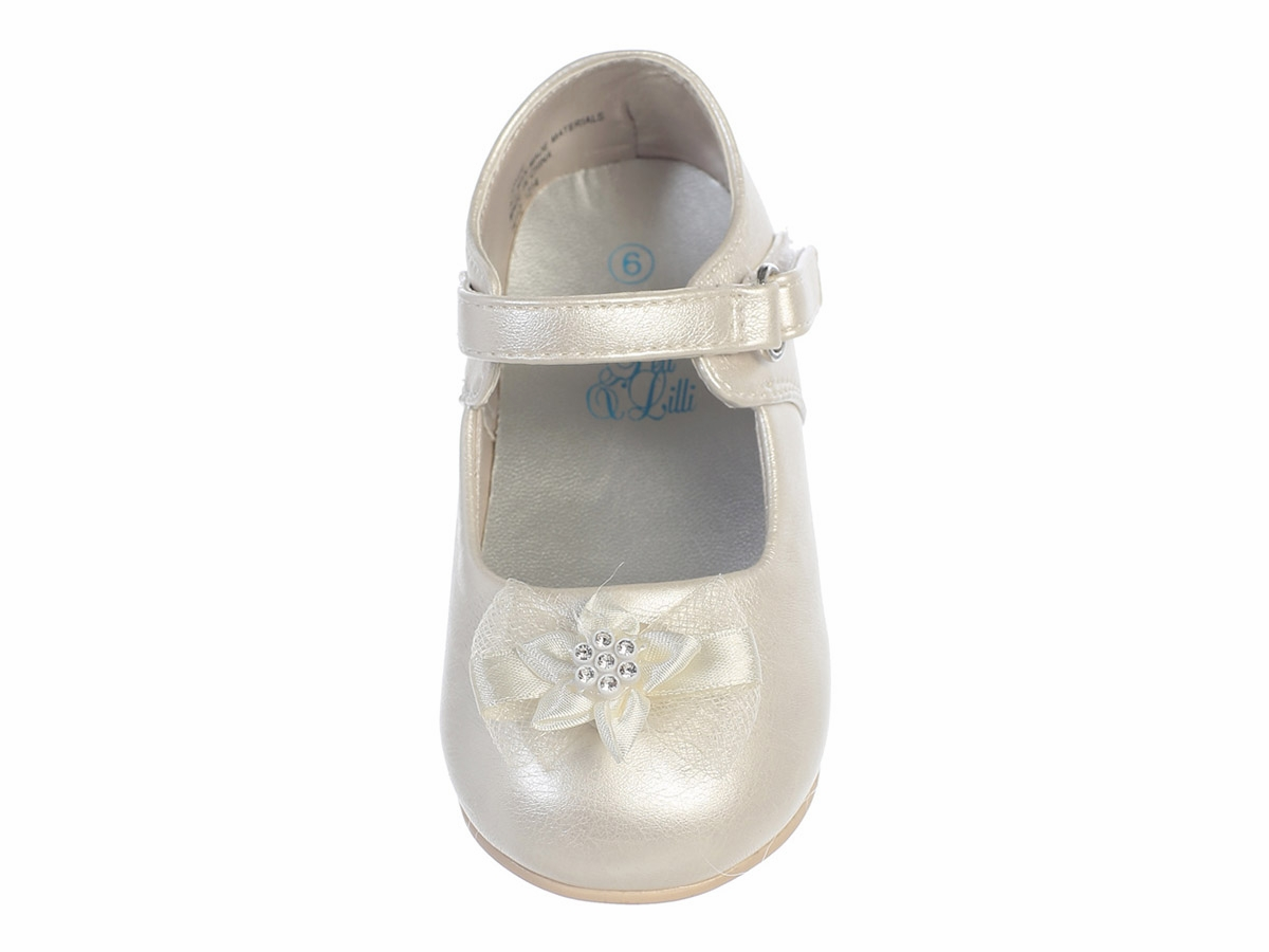 infant ivory shoes w bow